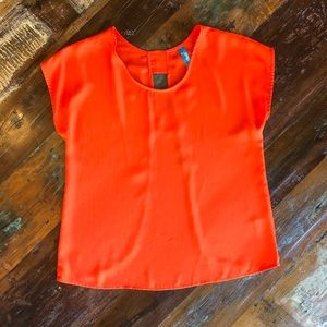 Bright Orange Open-back Top - francesca's